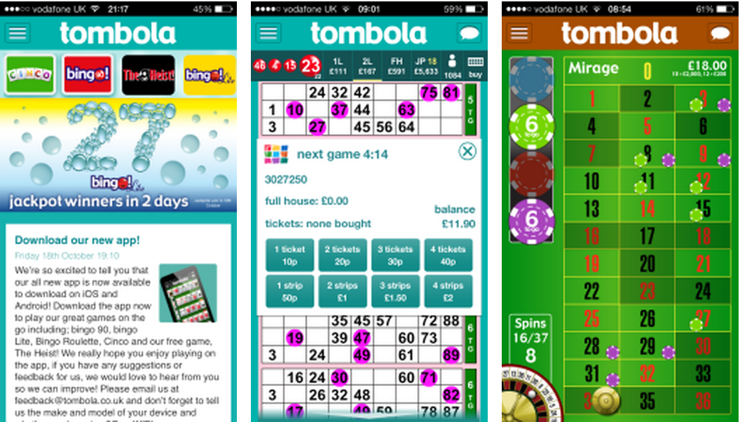 Tombola bingo app images