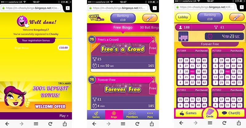 cheeky bingo mobile app