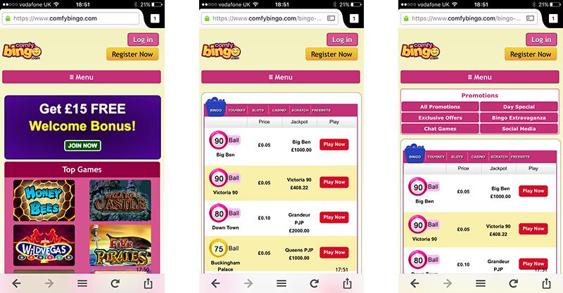 Comfy Bingo App