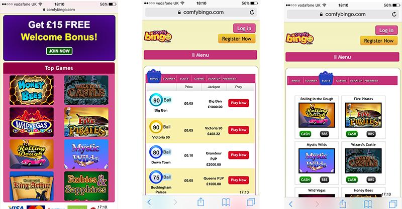 Comfy Bingo mobile
