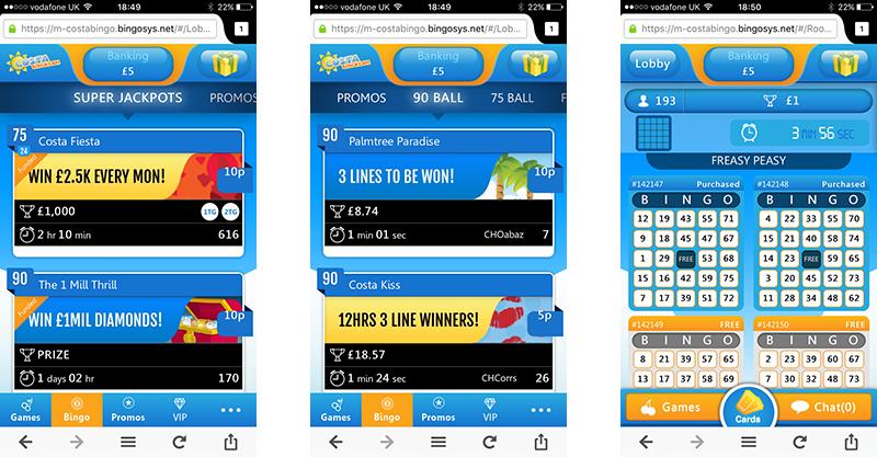 Costa Bingo Android App