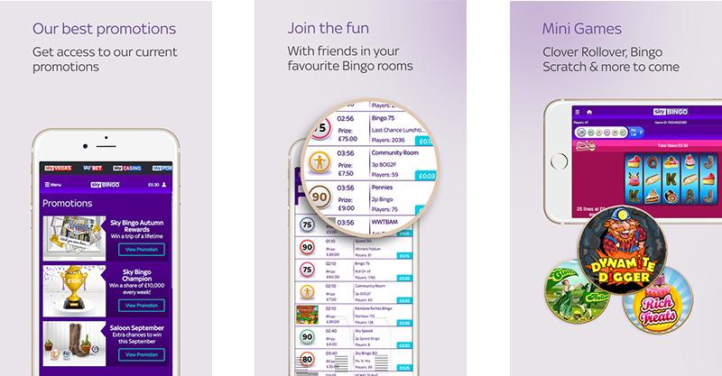 Sky Bingo App for iPhone
