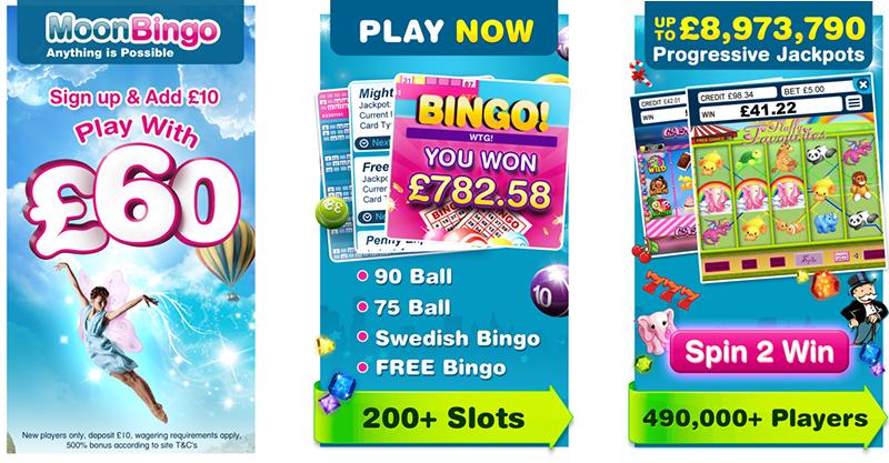 Moon Bingo app